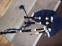 Set of Sterling Silver Fletcher Bagpipes