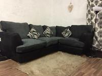 New black&Grey corner sofa**Free delivery**