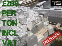 Paving cubes. Natural stone granite setts. Many sizes-- UK stock