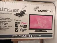 Linsar 22 inch Smart LED HD TV with built-in DVD