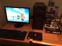Gaming Desktop PC -i7 4770K -16GB -970 GTX -SSD -Custom Top Spec Watercooled Computer