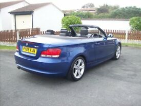 BMW 1 SERIES 120i se convertible 2008 half leather heated seats aircon 2 keys 6 speed 2 owners