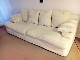 Cream large sofa