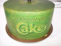 Large reto cake storage tin