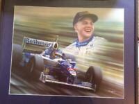The 'Maple Leaf' Maestro, a framed print tribute to f1 legend Jacques Villeneuve for sale  Bournemouth, Dorset