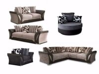BRAND NEW - LARGE CORNER SOFA or 3 + 2 Seater - SHANNON FULLY PADDED 2 Beautiful Colours - CALL NOW