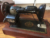 Electric Antique Singer Sewing Machine
