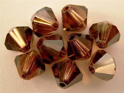 5 6 mm Swarovski 5301 Bicones - Colorado Topaz Satin(Pls. Read Item Description)