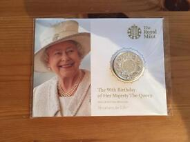 Queens 90th Birthday £20 Coin