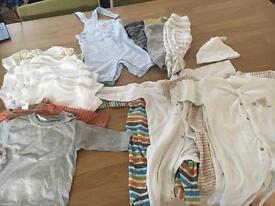 Bundle of boys 0-3 month baby clothes
