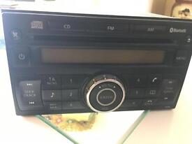 Nissan Qashqai Micra Double din stereo with Bluetooth