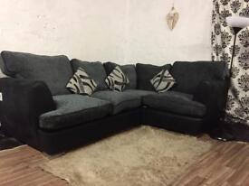 New black&Grey corner sofas**Free delivery**