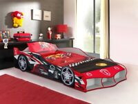 Car bed, racer bed, Birthday gift, Ortho with mattress, BARGAIN to CLEAR.adult size single bed.
