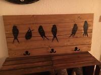 Handmade Wood Coat Rack / Hanger