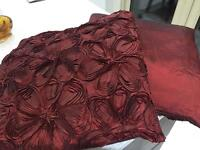 M&S Scatter cushions 45 X 50cm Dark red