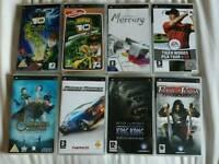 8 x PSP games