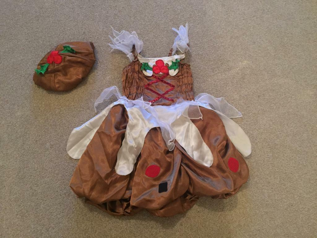 Christmas Pudding Outfit.Girls Christmas Pudding Outfit Top Dress And Hat In Southampton Hampshire Gumtree
