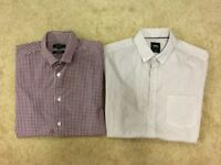 x2 Men's Red and White Shirt bundle, size small