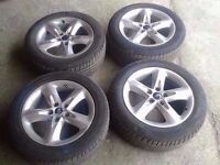 "MK2 FORD FOCUS 16"" ALLOYS ALLOY WHEELS WITH TYRES"