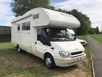 2004 FORD TRANSIT 2.4 *DIESEL* TWIN AXLE 6/7 BERTH MOTORHOME - ONLY 33,000 MILES!!