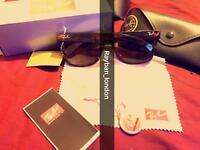 Best rayban wayfarer aviator clubmaster men's women's sunglasses new box bag gold