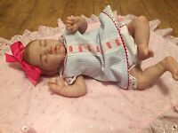 Reborn doll, fake baby doll, Evangeline by LLE, Ltd Ed 902/1400, dummy, baby bottle.