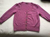 M&S 100% cashmere cardigan U.K. 12 excellent condition