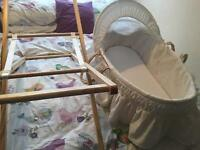 Moses Basket And free stand unisex great condition