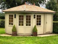 NEW Garden Summerhouse with Side Storage 4.40m x 3.00m LBUK