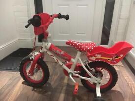 "12""Minnie mouse bike"