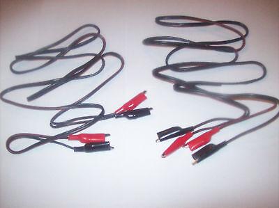 2 7 Ft Test Lead Sets Alligator Clip Wire 18 Gauge Ul