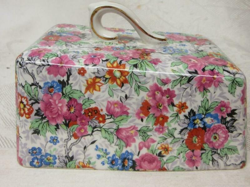 LORD NELSON CHINTZ  CHEESE DISH LID,  MARINA Pattern     LID ONLY  VGC