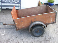 "WOODEN CAR TRAILER 4FT X 2FT 6"".FREE DELI VERY B,MOUTH AND LYMINGTON AREAS"