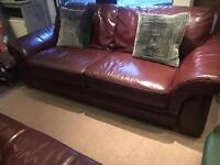John Lewis Brown Leather 3 Seater Sofa - UK Delivery