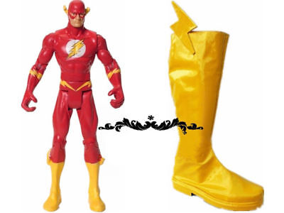 SUPER POWERS The Flash Cosplay Costume Shoe Boots Halloween Yellow Shoes - Cheap Halloween Boots