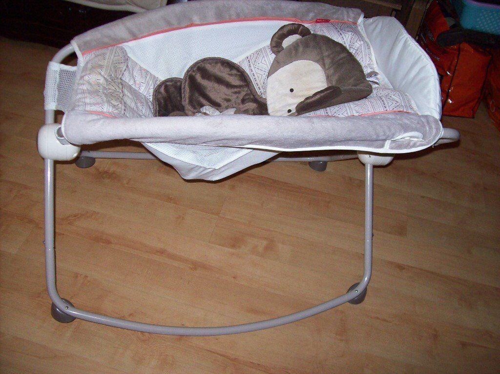Fisherprice Deluxe My Little Snug A Monkey Newborn Rock N