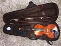 Violin, bow & case - Size 3/4