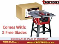 """Proplus 10"""" Table Saw & Extension table 1500w + 3 Free Blades"""