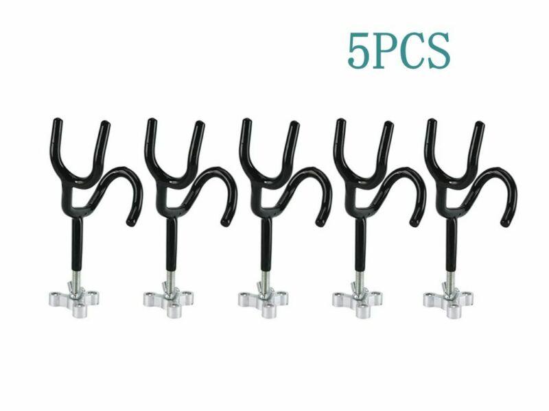 5PCS Marine Steel Wire Rod Holder Mounting Base Angle for Fishing Boat Rod Pod