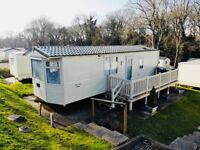SITED STATIC CARAVAN. HOBURNE NAISH, NEW MILTON. NR NEW FOREST, BOURNEMOUTH AND LYMINGTON