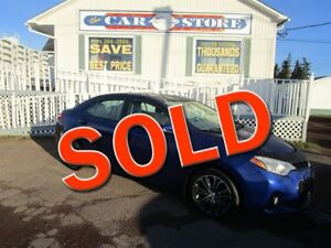 2015 Toyota Corolla S PRENIUM SUNROOF HTD PARTIAL LTHR ALLOYS!!