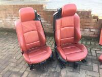 Bmw e93 3 series red leather interior seats m Sport lovely condition convertible