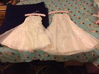 2 x ivory children's dresses