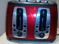 Russell Hobbs 19160 Heritage 4 Slice Toaster - Metallic Red--FAULTY