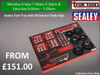 Sealey Tool Tray with Oil Service Tools 41pc