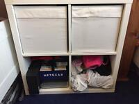 IKEA cube unit storage kallax expedit with two drona boxes