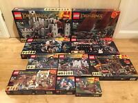 Brand new sealed Lego Lord of the Rings rare and discontinued sets for sale incl Lego Helms Deep