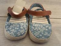 Next baby espadrille shoes infant size 1 *BNWT*