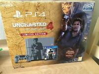 Limited Edition 1 TB PS4 + brand new sealed Uncharted Game With Warranty and Receipt