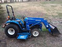 "1998 New Holland 1925 Diesel Hydro Compact Tractor Loader 72"" Mower"